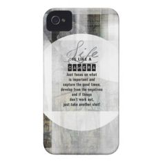 Life is Like a Camera Case-Mate iPhone 4 Case - photography gifts diy custom unique special