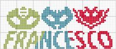 PJ Masks schema punto croce