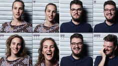 These photos capture the evolution of drinking 1 2 and 3 glasses of wine  The project shows a few of the photographer's friends sober then again after one then two and finally three glasses of wine.