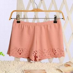 New 2016 Women's 6 Color High Waist Shorts Summer Casual Shorts Short Hot One Size