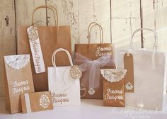 A Craft Easter - The Creative Couple Goodie Bags, Gift Bags, Paper Gifts, Paper Bags, Paper Bag Design, Hanging Wedding Decorations, Eid Greetings, Wedding Giveaways, Flower Bag