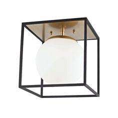 Garza 1-Light Semi Flush Mount Flush Mount Ceiling, Flush Mount Lighting, Stonehenge, Cosmopolitan, Ceiling Fixtures, Light Fixtures, Wall Lights, Ceiling Lights, Ceiling Lamp