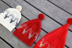 DecemberHuen , hæklet hue/nissehue med rensdyr eller julestjerne // December Beanie , crochet beanie with deer or snowflake // www.lutteridyl.dk