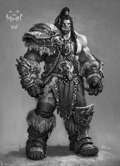 ArtStation - The Art of Warcraft Film - HellScream, Wei Wang