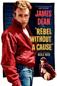 James Dean. Red jacket, white t-shirt, blue jeans and sexy attitude. Got it!!!