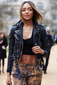 Jordan Dunn #LFW #StreetStyle #FashionWeek photos by Candice Lake
