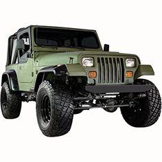 Amazon.com: E-Autogrilles 87-95 Jeep Wrangler YJ Pocket Rivet Style Front + Rear Fender Flares (17191): Automotive
