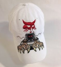 67855a2a Bobcat Equipment Special Edition BallCap Hat Custom Embroidery Red Demon Cat