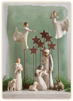 The official website of Willow Tree® by Susan Lordi. View, experience, discover, and shop the entire Willow Tree line. Willow Tree Figures, Willow Tree Nativity, Willow Tree Angels, Christmas Nativity Scene, Noel Christmas, Christmas Ornaments, Nativity Sets, Xmas, Navity Scene