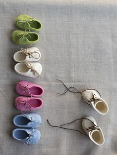 Felted booties for newborns by Vaida Petreikis