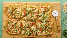 Enjoy spicy Thai flavors on a crispy pizza crust for a fusion dinner the whole family will love.