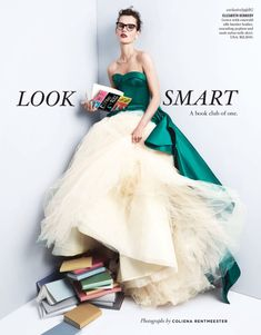 Celebrating the new season's most amazing gowns, Bergdorf Goodman's spring 2017 catalog brings a twist to evening wear. Model Giedre Dukauskaite appears in the editorial called, 'Look Smart'. Sporting optical glasses, the Lithuanian beauty channels her inner Belle while posing with literally a pile of books. Photographer Coliena Rentmeester captures Giedre in a mix of …