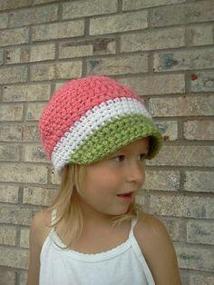 hat #crochet - summer watermelon hat?