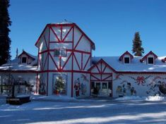 Santa Claus House in North Pole, Alaska- Trading Post. Fairbanks, Alaska.  We stopped here on a family trip when I was younger.