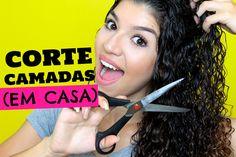 CORTANDO CABELO CACHEADO EM CASA (CORTE CAMADAS) | Por Jessica Melo