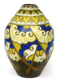 Charles Catteau, Art Deco Vase - 1928 - Design by Leon Lambillotte