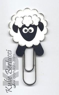 Stampin' Up Sheep Punch Art Bookmark Kit by iluvstampinup on Etsy, $4.00