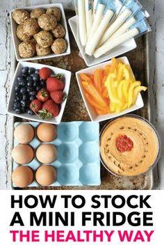 How to stock a mini fridge