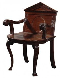 William Kent, carved mahogany 'elbow chair' for Chiswick House, c. 1730 | PALLADIANISM