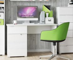 Marilyn Small White Gloss Computer Desk