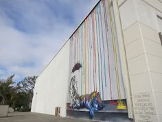"MELROSEandFAIRFAX: The Rainbow Tiger ""Catnap"" by artist Michael Summers in Carlsbad Village"