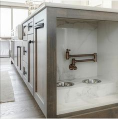 What a clever idea- a pet feeding station built into the kitchen island with its own water supply. Dream Home Design, My Dream Home, House Design, Dog Rooms, Home Reno, Küchen Design, Design Elements, Home Kitchens, Small Kitchens