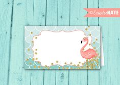 Pink Flamingo Food Labels / INSTANT DOWNLOAD / Favor Tags / Birthday Party / Baby Shower / Gold Glitter / Pink, Teal / Digital Printable