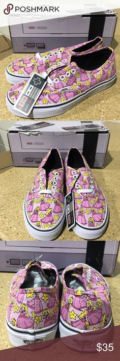 Vans X Nintendo Princess Peach Authentic's These limited Edition Vans collaborating with Nintendo are the perfect collectors item that you can even wear casually! (PM-S0345) Vans Shoes Sneakers