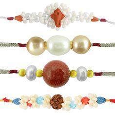 Jpearls Combo Of 4 Rakhis | Pearl Rakhi | Rudraksha and Ganesha Rakhi  #rakshabandhan #jewellery #rakhigifts #rakhis #brother