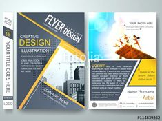 Cover book portfolio summer presentation and gray triangle on poster design.City design on brochure layout - Buy this stock vector and explore similar vectors at Flugblatt Design, Book Design, Cover Design, Layout Design, Design Ideas, Graphic Design, Brochure Cover, Brochure Layout, Brochure Design