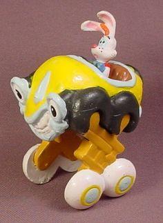 Disney Roger Rabbit In Benny The Cab PVC Figure, 3 1/4 Inches Tall, Disney Figurine, 1987