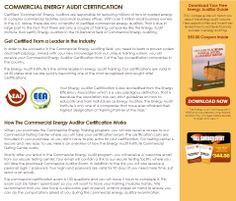 """Click Here: http://diygreenpowerforhome.com/Energy_Audit_Institute.php         http://diygreenpowerforhome.com     COMMERCIAL ENERGY AUDIT CERTIFICATION Certified """"Commercial"""" Energy Auditors are responsible for reducing millions of tons of wasted energy in complex commercial facilities and small business offices. With over 5 million small business owners in the U.S. alone, there are only a handful of certified commercial energy auditors. That is due in large part to the fact ..."""