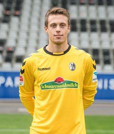 Alexander Schwolow poses during the SC Freiburg Team Presentation on August 5, 2016 in Freiburg im Breisgau, Germany.