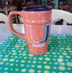 Travel Mug Painted By Customer