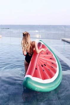 Inflatable water melon at Ibiza: http://www.ohhcouture.com/2016/07/monday-update-29/ | #ohhcouture #leoniehanne #ohhIbiza