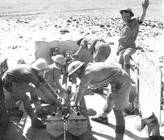 On October 24, 1942 British soldiers six pounder cannon positioned in the Egyptian Libyan border.