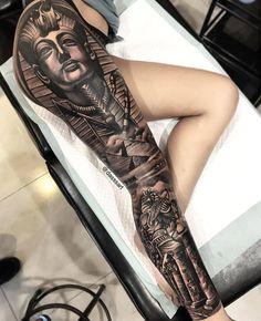 tatuagens femininas na perna Full Leg Tattoos, Leg Tattoo Men, Weird Tattoos, Sleeve Tattoos For Women, Cute Tattoos, Black Tattoos, Body Art Tattoos, Tattoos For Guys, Leg Sleeve Tattoos
