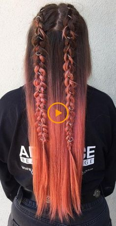 Ombre hair, with plaits half up and ring accessories. – Mode coiffure Ombre hair, with plaits half up and ring accessories. Ombre hair, with plaits half up and ring accessories. Hair Dye Colors, Cool Hair Color, Cool Braid Hairstyles, Girl Hairstyles, Hairstyles For Pictures, Simple Braided Hairstyles, Scene Hairstyles, Wedding Hairstyles, Ombre Hair
