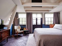 The Hoxton, Amsterdam: Hip canal houses that make all the right noises. #hotel #TheNetherlands