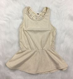 Free People Affairs in Versailles Peplum Tank Top With Caged Back XS  | eBay