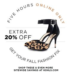 Click Quick! Extra 20% Off - 5 Hours - Online Only!
