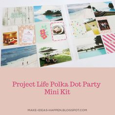 Travel – one spread at a time Polka Dot Party, Polka Dots, Project Life Travel, Becky Higgins, Project Life Layouts, Diy Gifts, Bohol Philippines, Vacation, Mini