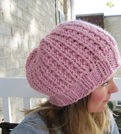Mon Amie is a soft and slouchy beret, knit in the round from the bottom 67381cb1362