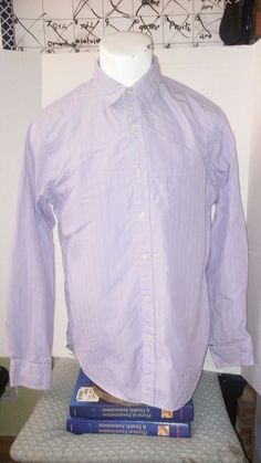 sale retailer 5f088 4cdf3 J crew purple and white pinstripe medium 15-15 1 2 2 ply 100