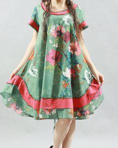 cotton comfortable short sleeved dress mini tunic dress by MaLieb, $70.00