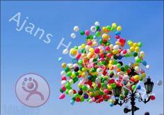 Uçan balon organizasyonlarında gökyüzünde ahenkle salınan renk renk helyum gazı ile şişirilmiş balonlar uçmaktadır.Bu organizasyonlar için firmamızı arayarak siparişler verebilirsiniz. http://www.balon-suslemesi.net/