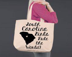 South Carolina | Personalized Canvas Tote Bag