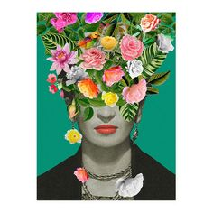 Frida Kahlo Flowers, canvas - Decorya Poster Mural, Kunst Poster, Poster Prints, Art Posters, Quote Prints, Abstract Posters, Floral Posters, Nature Posters, Poster Poster