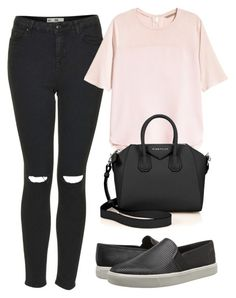 """""""Untitled #1356"""" by katrinad29 ❤ liked on Polyvore featuring Vince, Topshop, H&M and Givenchy"""