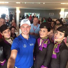 Martin Kaymer is currently topping the leaderboard at the Abu Dhabi Golf Championship. He popped by to meet our cabin crew earlier. #Golf #MartinKaymer #Kaymer #Etihad #Crew #CrewLife #Selfie #InAbuDhabi #AbuDhabi #ADunexpected